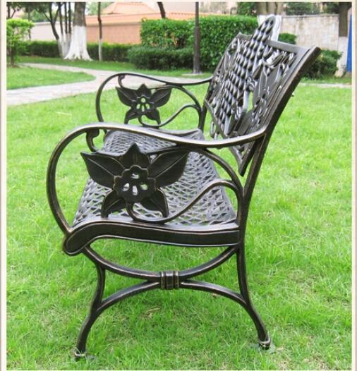 White economic outdoor wrought iron cheap antique cast for Bancos de hierro para jardin
