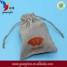 Linen bread bag, Natural pure linen bread bag with handmade flax cord , organic