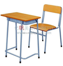 Customized School Furniture Primary Classroom Single Wooden School Desk and Chair