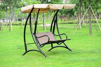 outdoor swing sofa set double people swing chair for garden/balcony