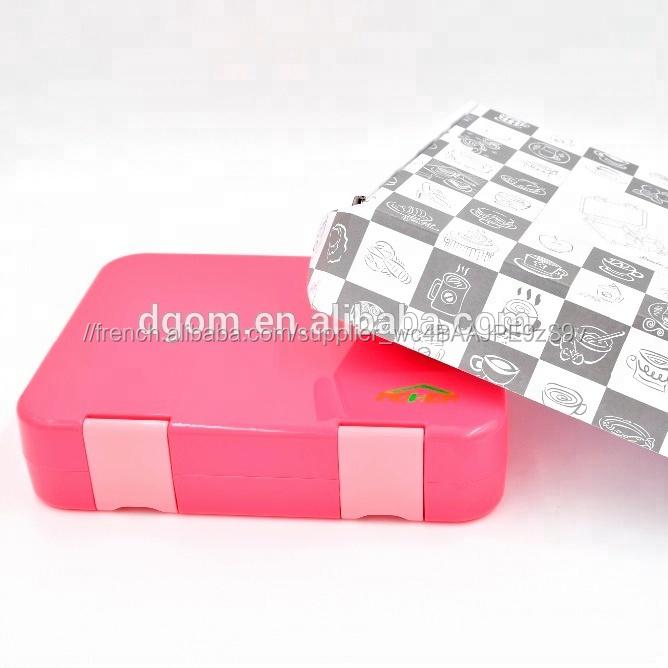 Alimentaire conteneur de stockage Quatre sections ABS matériel jetable enfants bento boîte à lunch
