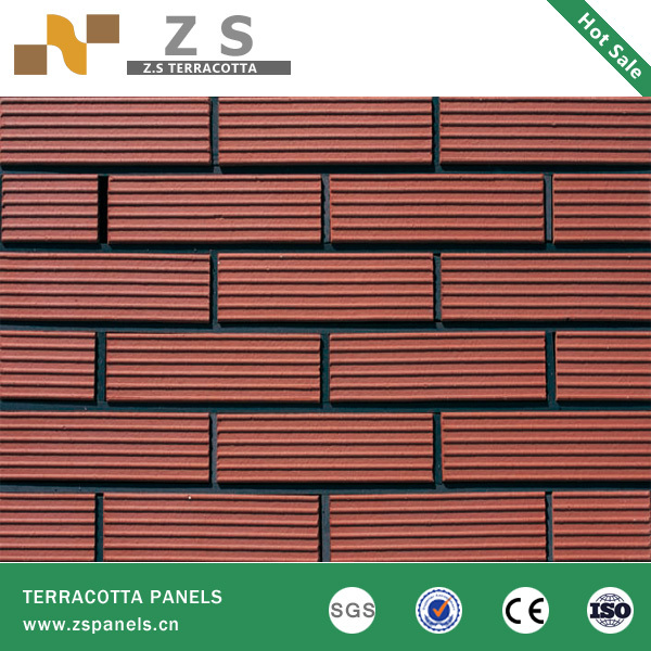 terracotta tile panel clay curtain wall bricks brick exterior