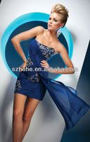 CW470 Dashing strapless sequins beaded short special occasions prom evening dress girls party dresses