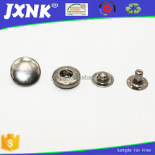 Custom metal fabric covered snap buttons for clothing