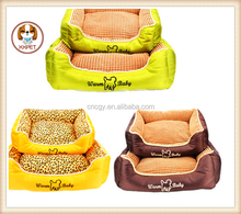 2015 Waterproof leather plaid shape dog bed dog house new arrival Rectangular pets bed Warmbaby dog cats mat