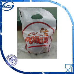 HDPE printed chicken bag carry out fried chicken bag and it can tolerate some heat