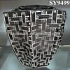 polygon black hotel decoration flower pot