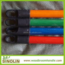 pvc coated wooden broom poles with italian screw