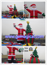 nice ornament inflatable christmas tree santa claus decoration