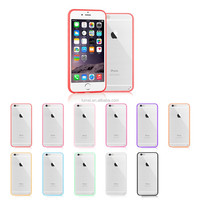 For iPhone 6 Tpu Bumper and Pc Clear Back Protective Case Cover