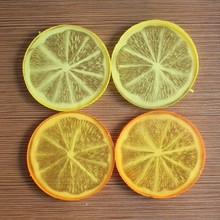 China supplier Artifical Fake Fruit Lemon Slices