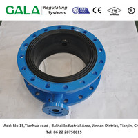 cast iron flange butterfly valve body for air