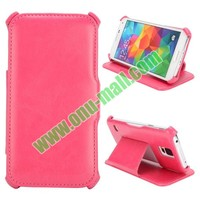 Crazy Horse Texture Thermoforming Leather Case for Samsung Galaxy S5