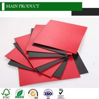 Laminated one side black paper board one side red paper