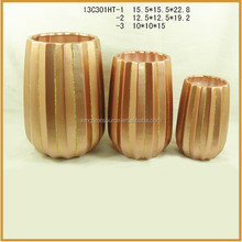 indoor ceramic flower vase with glitter for sale