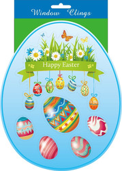 easter egg sticker easter window stickers