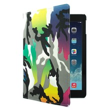 Protective Folding Stand Cover for iPad Air Case - Colourful Camo