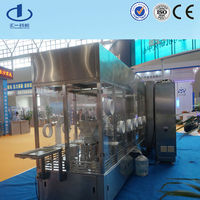 Glass vial bottle rinser filling sealing production machine