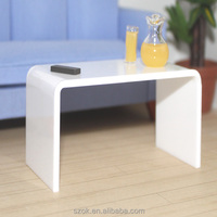 acrylic widely use fashionable white cute decorative small coffee table