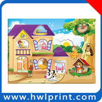 Paper cardboard jigsaw puzzle board card game pieces