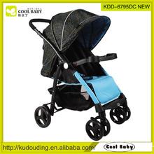 Removable armrest baby stroller with big wheels , backpack stroller hook