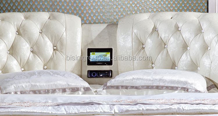 Mordern Design Music Round Bed With Build In Speaker For