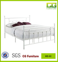 KD easy assemble white metal bed frame double full size