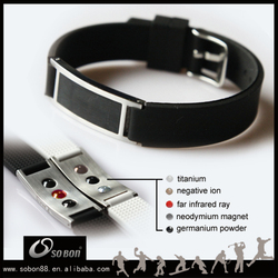 Silicone band with ID metal buckle friendship bracelet personalized silicone bracelet