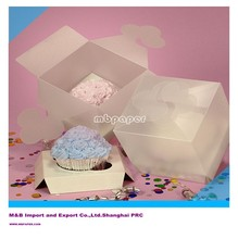 MB-BB 008 One Standard Cupcake Frosted Plastic Boxes