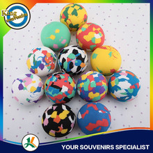 100mm Customized Logo Printed Eval Ball Rubber Basketball Toy Small Rubber Ball Jumping Rubber Ball