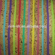 Sughero colorato tessuto, sughero naturale in lamiera esportatori