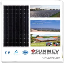 Cheapest and best quality monocrystalline solar panel price india with 25 years with 25 years solar panel warranty