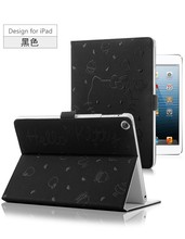2015 New cartoon hello kitty leather case for ipad 2 with stand function