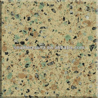 Light Green quartz man-made artificial stone for building decoration