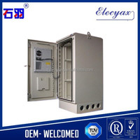 """Stainless steel ip55 outdoor equipment rack/telecom enclosure with 19"""" rack/air conditioner metal case with shelter function"""