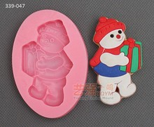 silicone snow boy mould,silicone chocolate mould,silicone christmas cake decorating tools