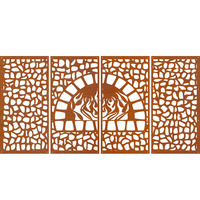 customized indoor decorative fence panel laser cut metal screen for decoration
