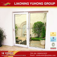New style big vision double tempered glass pvc tilt and sliding door