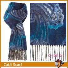 linea azul <span class=keywords><strong>paisley</strong></span> cashmink amplia bufanda con borlas
