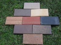 Garden clay paving brick,perforated clay bricks,clay bricks baking