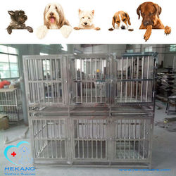 HK-CM0116 High Quality Stainless Steel Double Layer Dog Cage