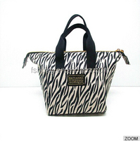 Women's Fashion Personality Handbag Zebra Stripe Beautiful PU Leather Tote Bag