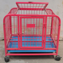 factory square tube dog crate folding dog cage for sale cheap
