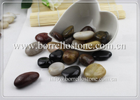 Walkway natural pebble stone