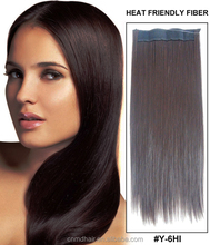 blonde brazilian human hair blend flip in hair extension
