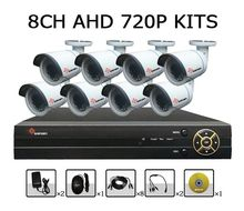 HD 720P AHD outdoor bullet waterproof cctv camera 8CH h.264 cctv AHD DVR Kit cctv system