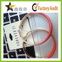 2015 Custom made fashion paper ear ring hang tag,ear ring tag,hang tag