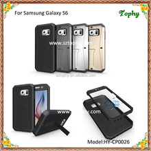 For Samsung Galaxy S6 Stand Case 3 in 1 Armored Tank Case Waterproof Screen TPU + PC Hybrid Combo Cover
