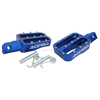Blue CNC Foot Pegs Footrest For CRF50 XR50 pit dirt bike SSR SDG DHZ Thumps