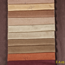 Hot sale various designs faux suede for sofa